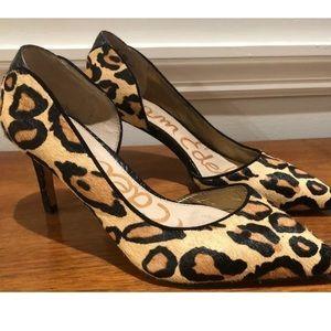 Sam Edelman sz 5.5 leopard heels EUC